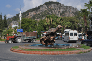 06 Dalyan turtle fountain PNG